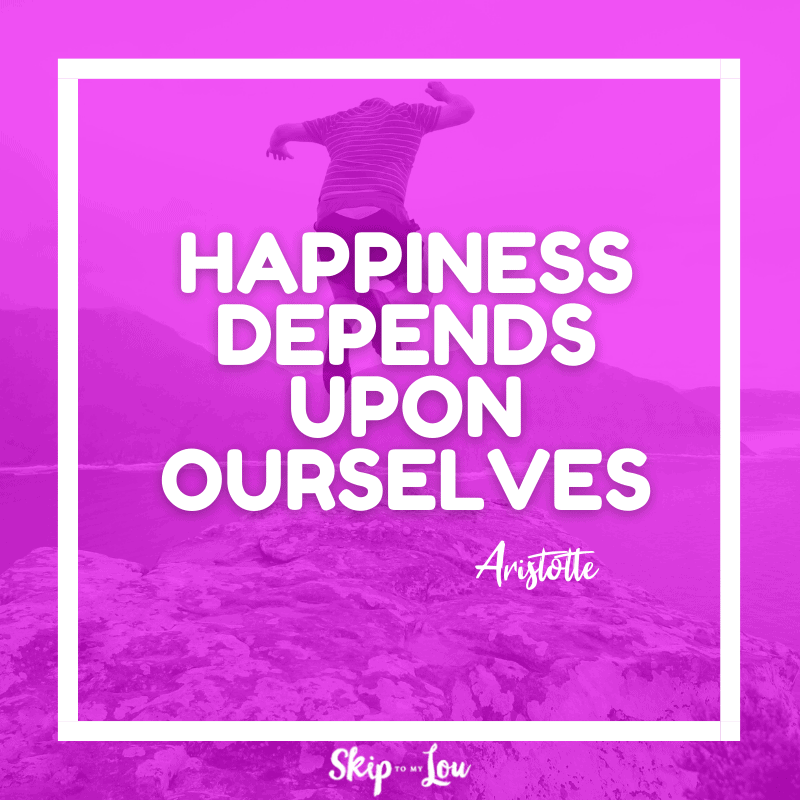 Happiness depends upon ourselves. — Aristotle