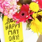 may day basket filled with flowers