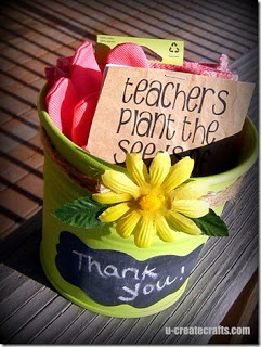 gardening teacher gift ready to go