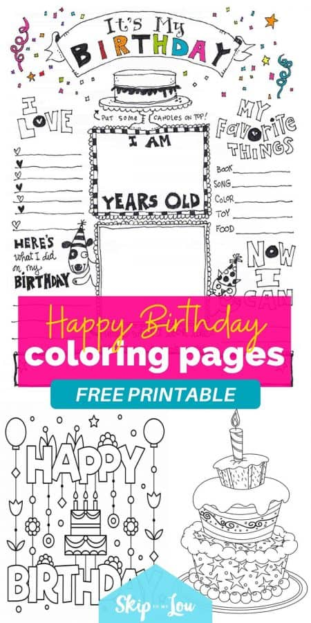 printable happy birthday coloring pages PIN