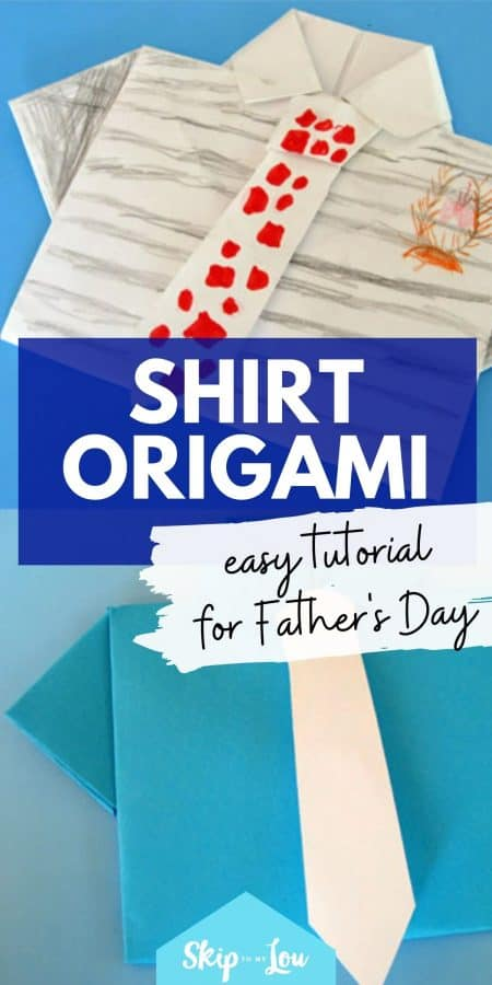 fathers day shirt origami PIN
