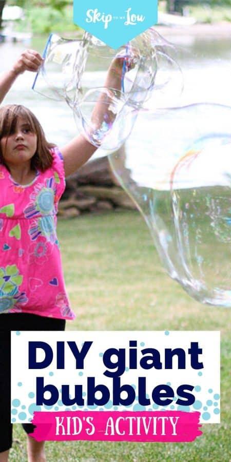 giant bubbles DIY PIN