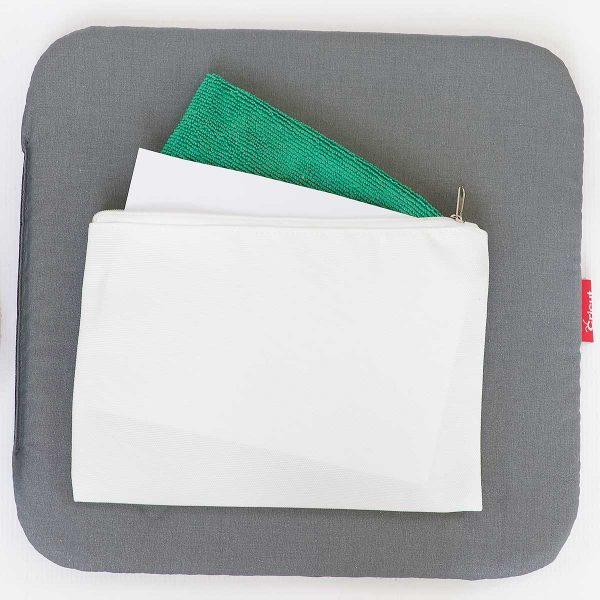 slip cardstock inside bag