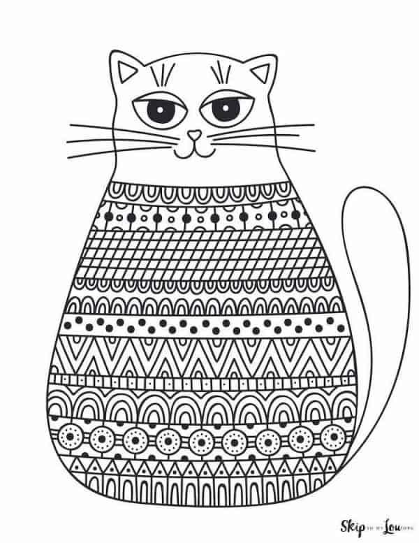 simple cartoon cat drawing