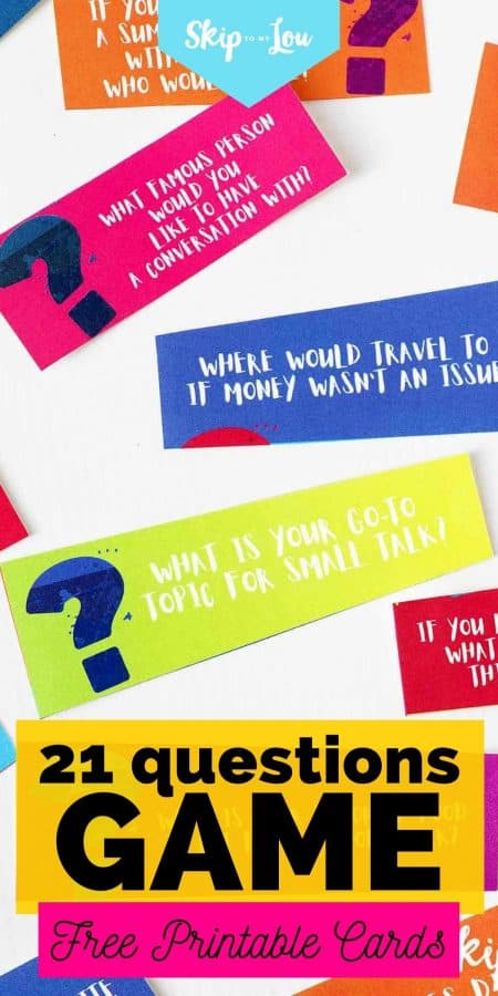 21 questions game printable cards PIN