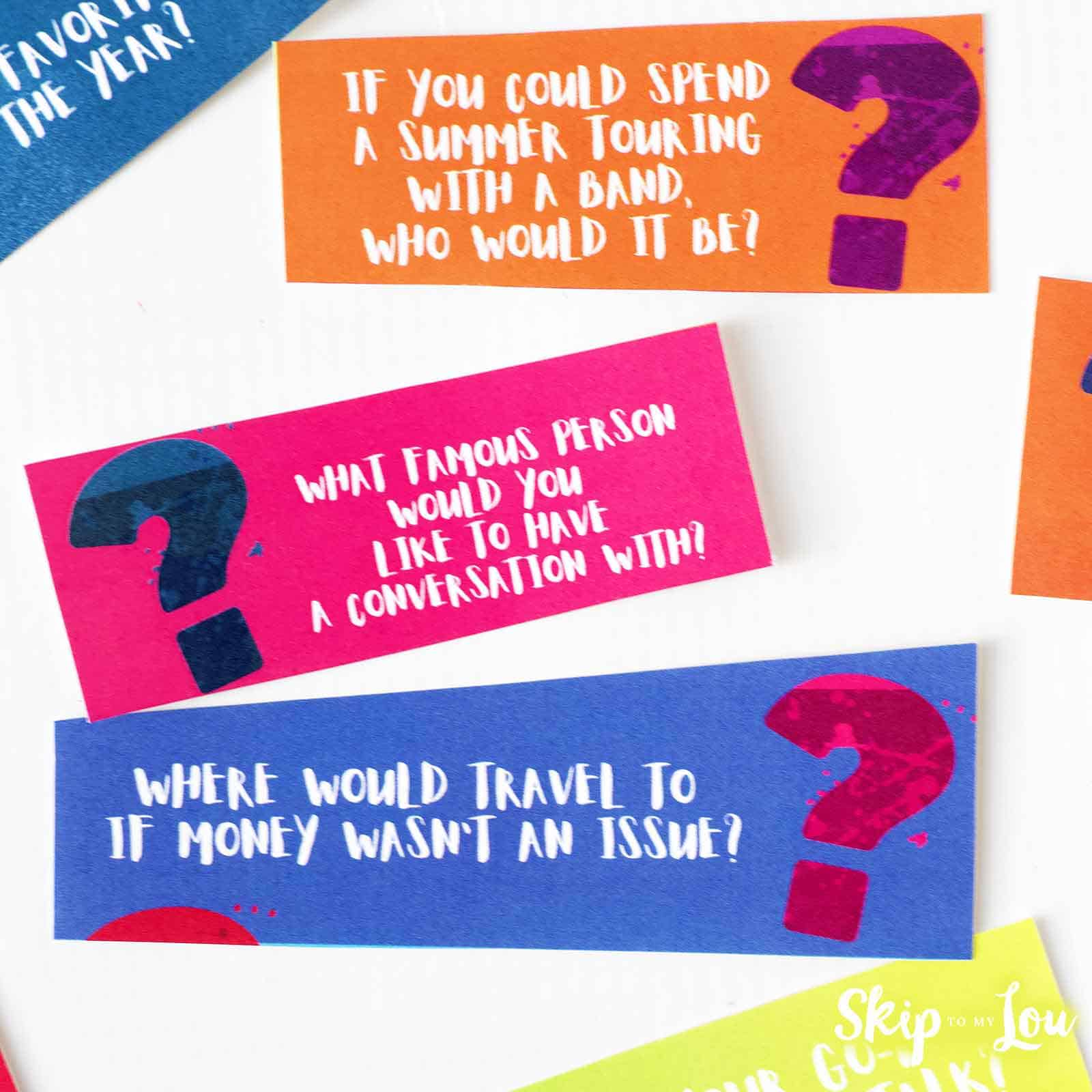 21 questions game cards