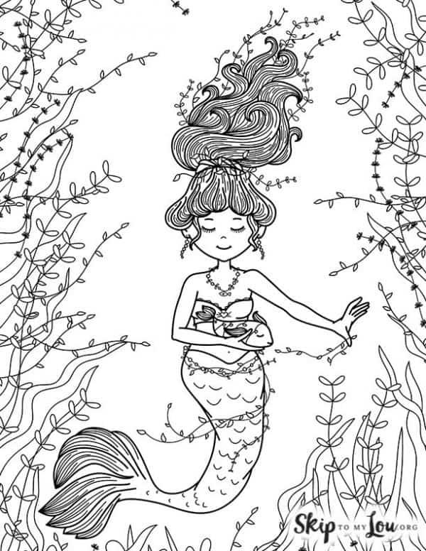 Mermaid with Vines