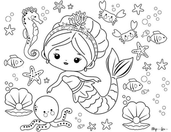 Cute Swimming Mermaid