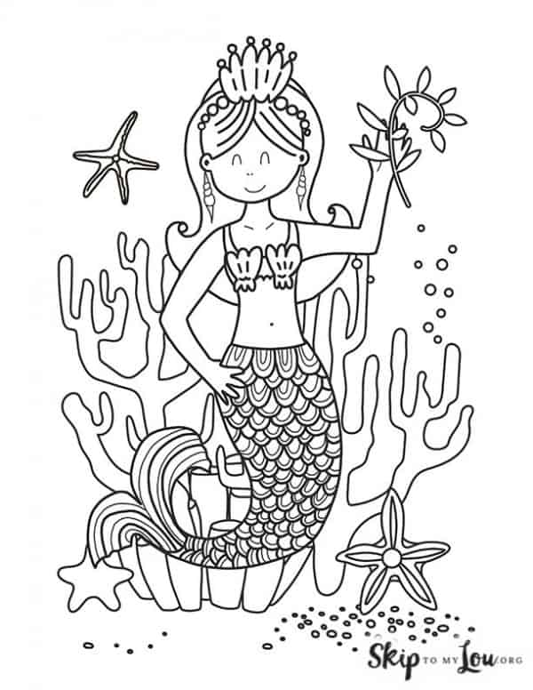 mermaid with coral