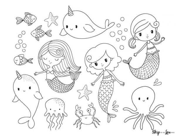 Mermaids and Sea Animals