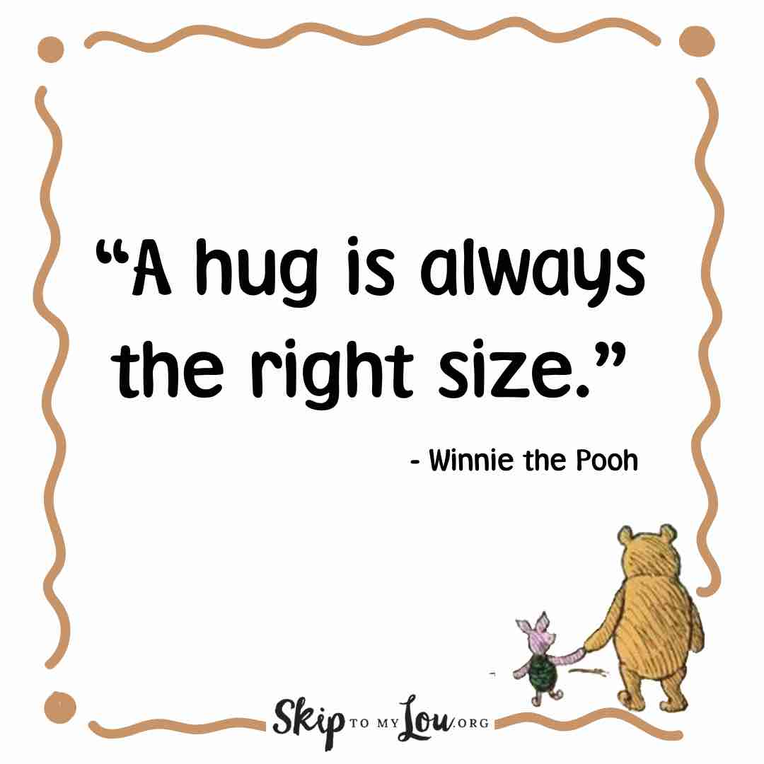 a hug is always the right size