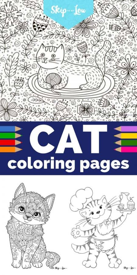 cat coloring pages PIN