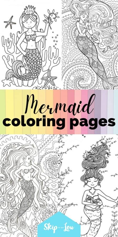 cute mermaid coloring pages PIN