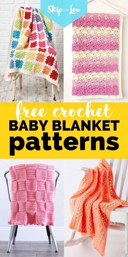 free crochet baby blanket pattern PIN