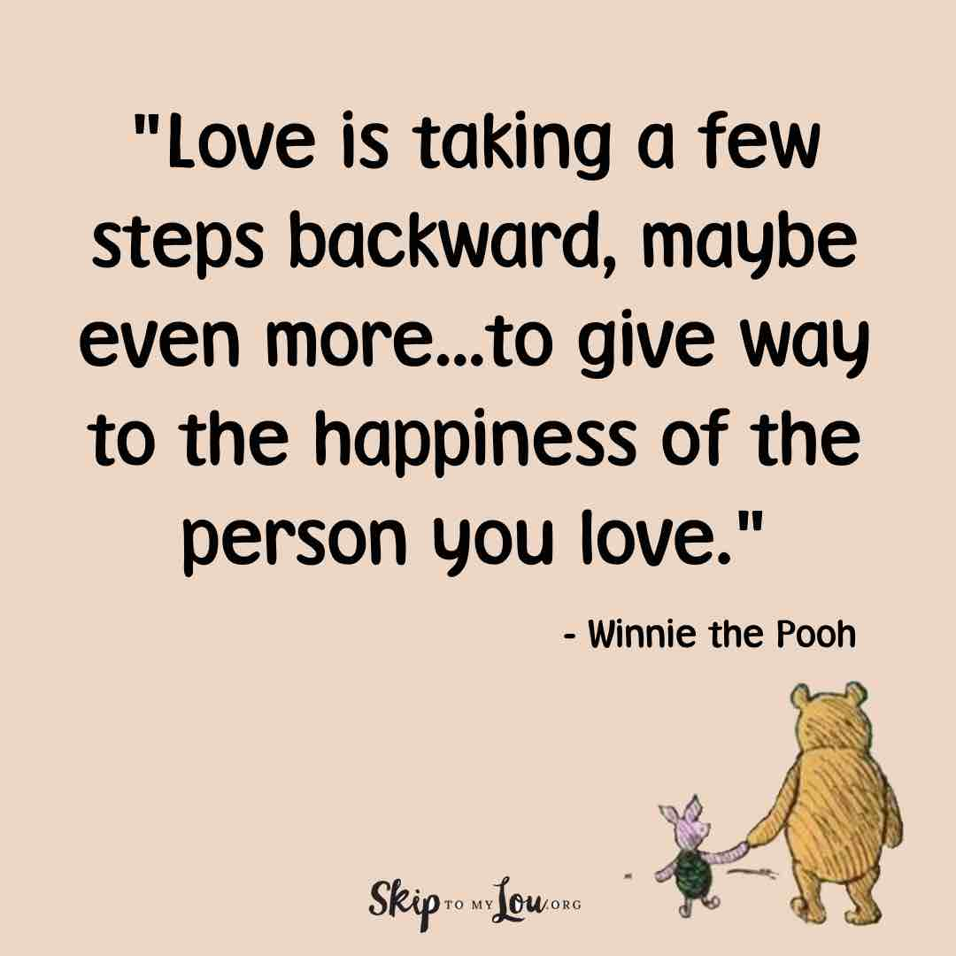 love is taking a few steps backward, maybe even more