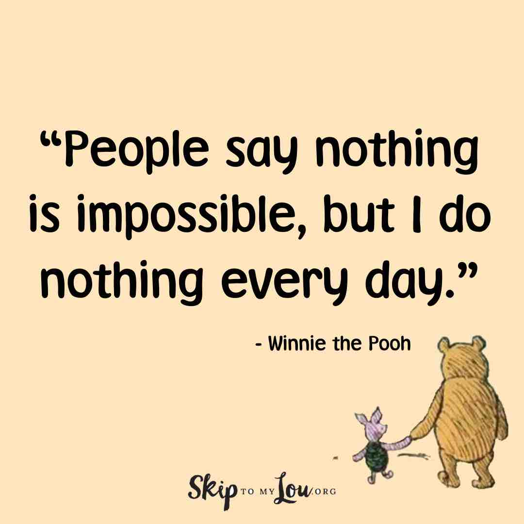 people say nothing winnie the pooh quotes