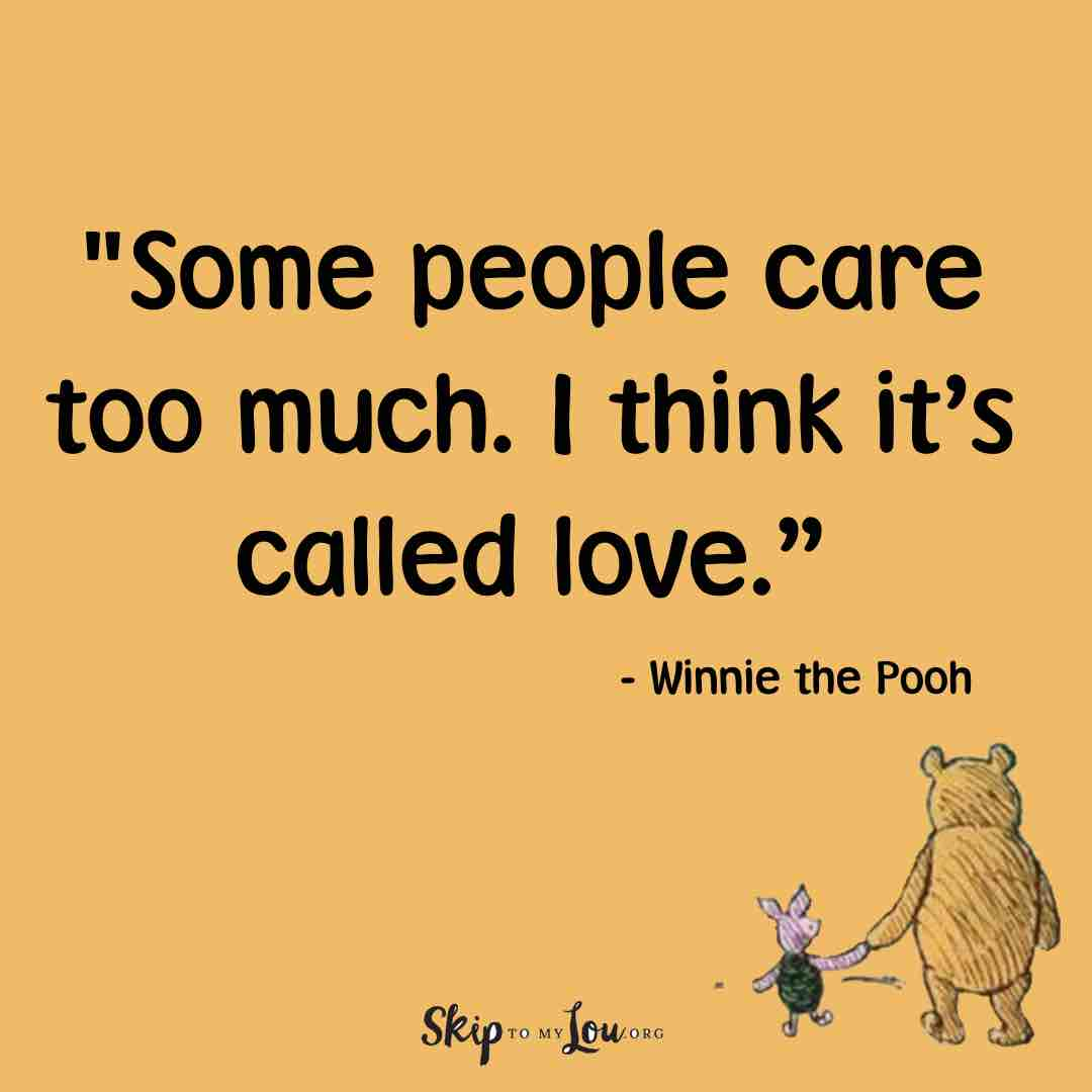 some people care to much I think it is called love