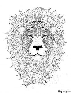 beautiful lion head