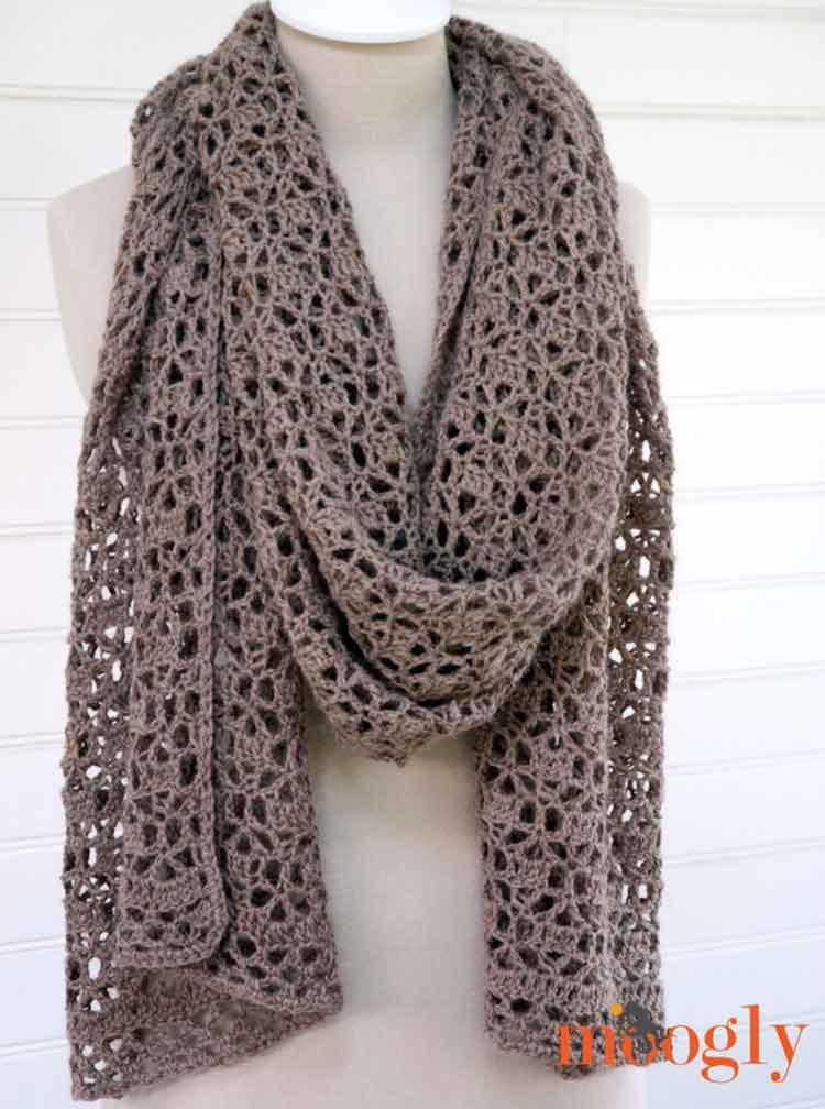 oversize scarf pattern