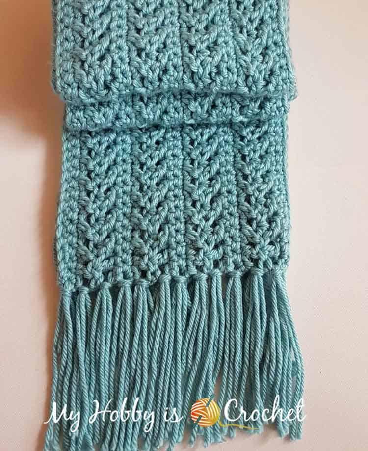 red heart yarn scarf
