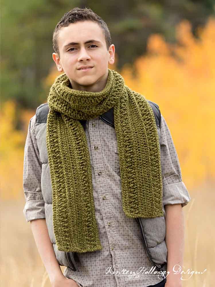crochet scarf for man