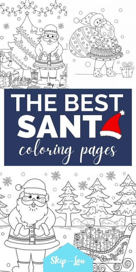 best santa coloring pages PIN