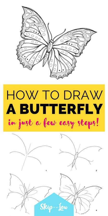 how to draw a butterfly PIN