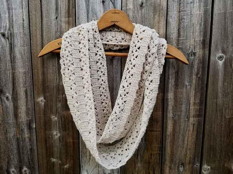 lacy infinity scarf crochet patterns