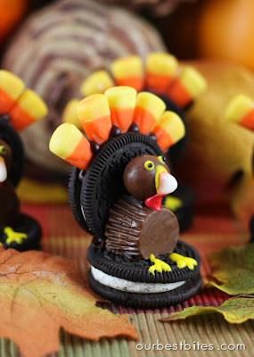 oreo turkey place setting